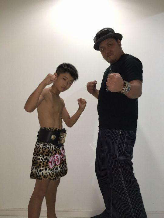 米田選手と片岡代表