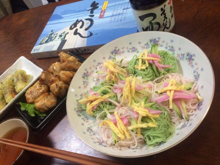 素麺ランチ